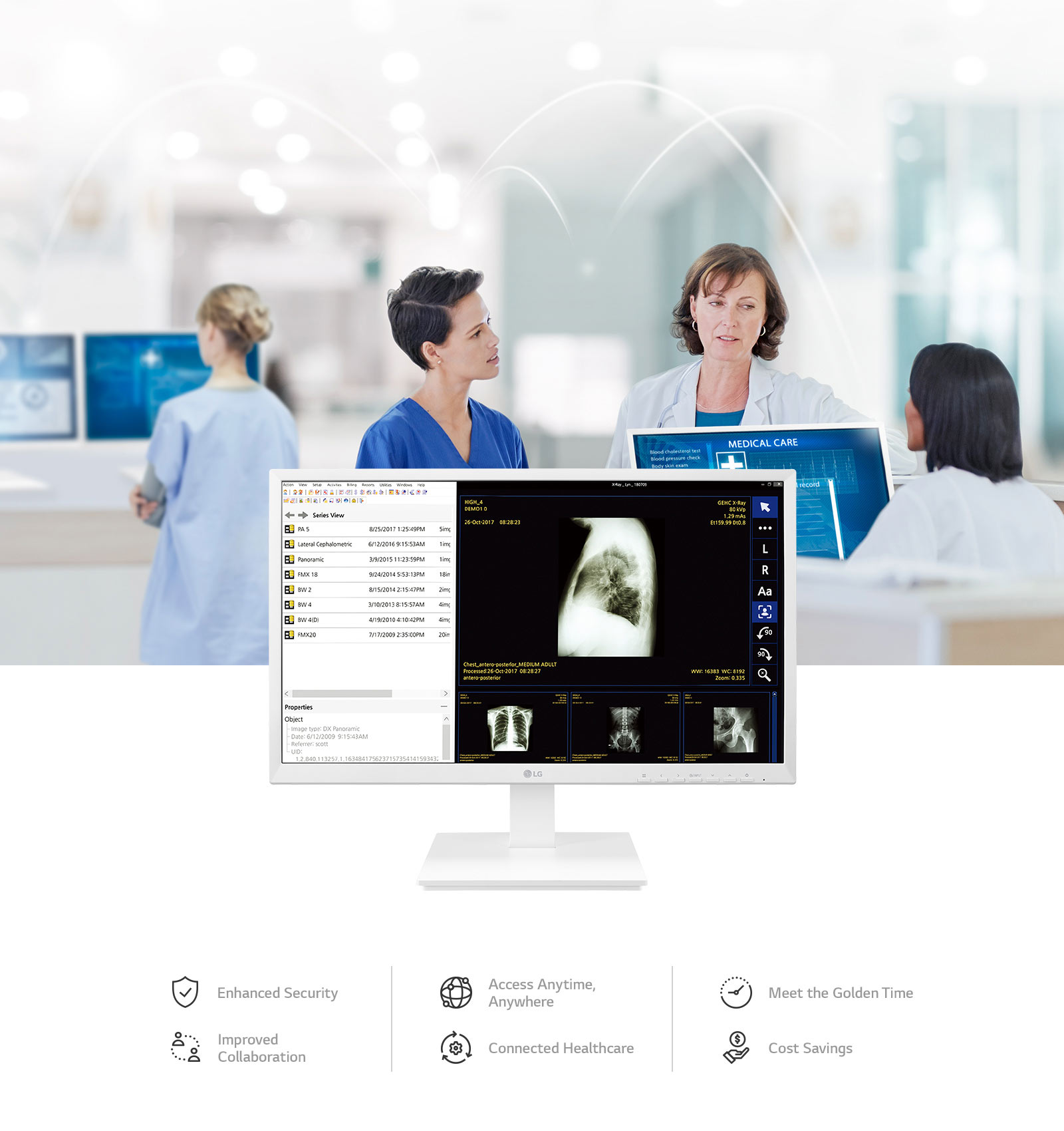 LG 24CK560N-3A All-in-One Thin Client for Healthcare